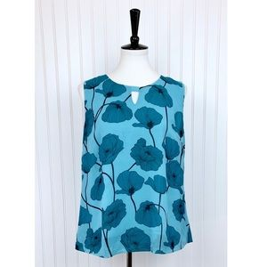 Cabi • Blue Poppy #3268 Sleeveless Blouse • M